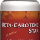 Beta- Carotene Star - 25.000 U.I. provitamine ale vitaminei A, pentru sanatatea ochilor si pielii